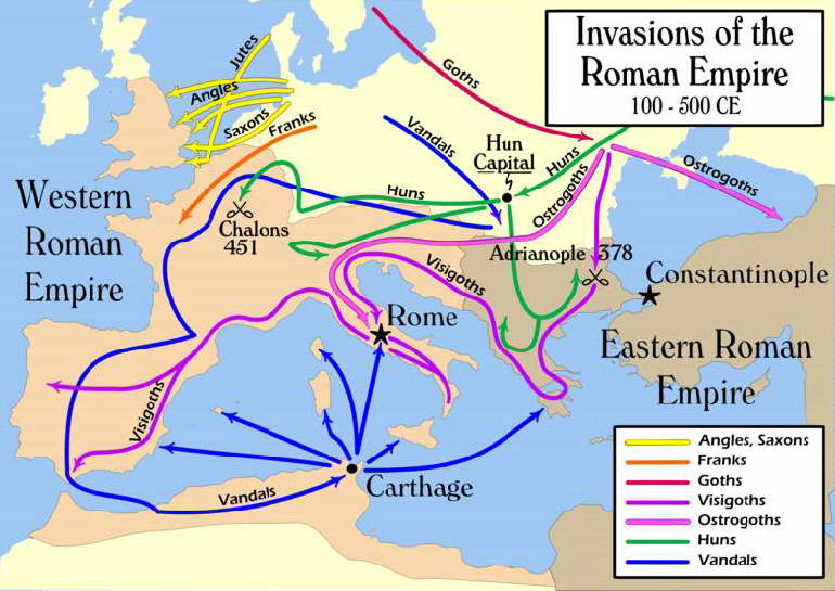 Map Of Europe 700ad